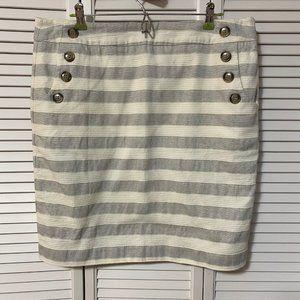 Ann Taylor Loft, Sailor Button Pencil Skirt